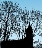 klar silhouetteskytree Royaltyfri Fotografi