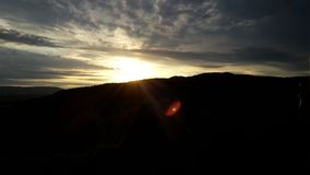 Klar solnedgång Arkivbild
