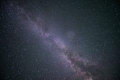 Klar stjärnklar natt Royaltyfri Fotografi