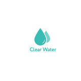 Klar vattensymbolslogo Royaltyfri Bild