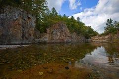 Klar vattentaigaflod Arkivbild