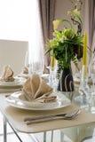 Klar vit garneringtabell för mål Royaltyfri Fotografi