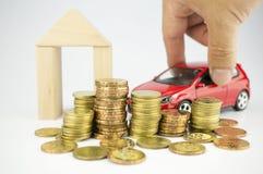 Klara av besparingar för personlig finans, budgetera och avgång royaltyfria foton