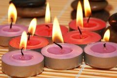 klara burning stearinljus Royaltyfria Bilder