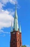 Klara Cathedral i Stockholm Arkivfoto