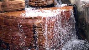 Klara och rena vattenfall 12 sekunder arkivfilmer