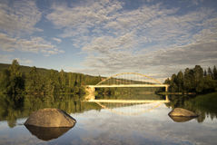 Klaralven rzeka blisko Ransby Obrazy Stock