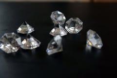 Klare Acryldiamanten Stockbild