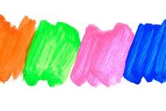 Klare Acrylfarbe auf weißem Hintergrund Lizenzfreie Stockbilder