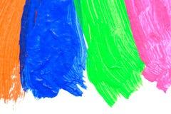 Klare Acrylfarbe auf weißem Hintergrund Lizenzfreies Stockfoto