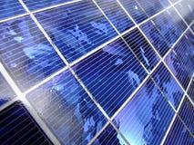 Klare blaue Energie von der Sonne Stockbilder