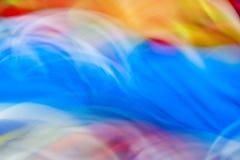 Klare Farbe des bunten abstrakten Bewegungslichtes verwischte Hintergrund Lizenzfreie Stockfotografie