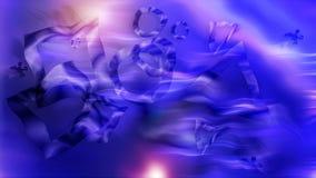 Klare geometrische Abstraktion - Verzerrung des Raumes mit glänzendem Effekt, computererzeugter Hintergrund, 3D übertragen stock video