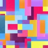 Geometrischer vibrierender Schmutzhintergrund Stockfoto
