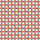 Klarer abstrakter Hintergrund mit Überschneidungskreisen Blumenblattmotiv Nahtloses Muster mit klassischer geometrischer Verzieru Stockbild