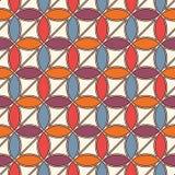 Klarer abstrakter Hintergrund mit Überschneidungskreisen Blumenblattmotiv Nahtloses Muster mit klassischer geometrischer Verzieru Lizenzfreie Stockfotos