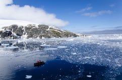 Klarer antarktischer Morgen Stockfotografie