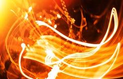 Klarer Beleuchtungslaser des orange Lichtes vollzieht Hintergrund nach Lizenzfreie Stockbilder