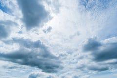 Klarer blauer Himmel mit Wolke Lizenzfreie Stockfotografie
