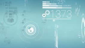 Klarer blauer Unternehmenshintergrund mit abstrakten Elementen von Infographics