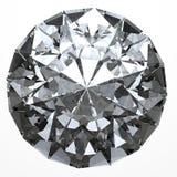 Klarer Diamant - Draufsicht Stockbild