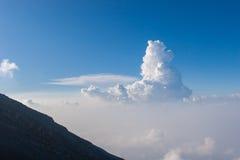 Klarer Himmel gut für das Wandern Lizenzfreies Stockbild