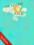Klarer Hintergrund mit Sun, Markierungsfahnen, Basisrecheneinheiten auf blauem Himmel stockfotografie