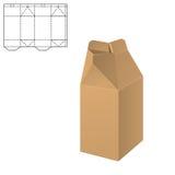 Klarer Karton-Kasten lizenzfreie abbildung