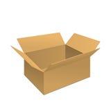 Klarer Karton-Kasten stock abbildung