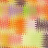 Klarer Mosaikzusammenfassungshintergrund mit buntem Quadrat schneiden Elemente in den Pastellfarben lizenzfreie abbildung