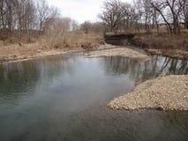 Klarer plappernder Nebenfluss von Butler County stockfoto