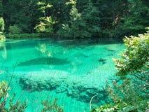 Klarer See in Plitvice, in Kroatien stockbild