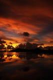 Klarer Sonnenuntergang Lizenzfreie Stockfotos