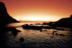 Klarer Sonnenuntergang lizenzfreies stockbild