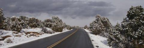 Klarer Winter-Antrieb Lizenzfreie Stockfotografie