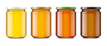 Klares Honey Jar-Modell Große Größe Stock Abbildung