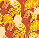 Klares nahtloses abstraktes von Hand gezeichnetes Muster des Vektors Stockfoto
