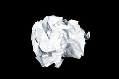 Klares Papier wird auf schwarzem Hintergrund lokalisiert lizenzfreies stockbild