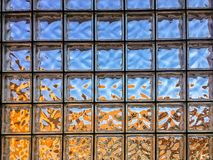 Klarglas-Block-Wand Stockfotos
