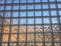 Klarglas-Block-Wand Stockfoto