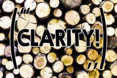 Klarhet för textteckenvisning Träbegreppsmässig exakthet för stordia för Comprehensibility för renhet för fotosäkerhetprecision arkivfoto