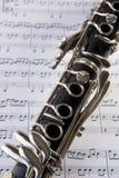 klarinettanmärkningar Arkivbild