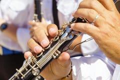 Klarinettespieler stockfotos