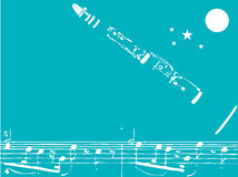 klarinettjazz vektor illustrationer