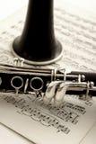 klarinettmusikark royaltyfri foto