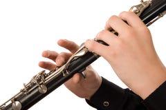 klarinettspelare Fotografering för Bildbyråer