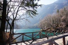 Klart knaprigt blått vatten av sjön Royaltyfria Bilder