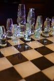 klart schack för 8 strid Arkivfoto