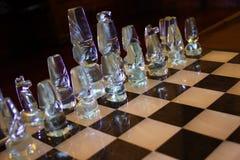 klart schack för 9 strid Fotografering för Bildbyråer
