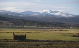 Klart snöig och kallt väder som stormen Eleanor piskar Britannien Royaltyfria Bilder